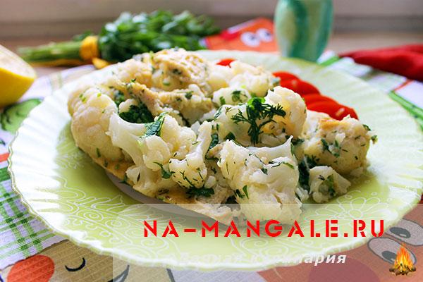 Цветная капуста с яйцом на сковороде рецепт с фото пошагово
