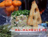 Миниатюра к статье Необычный нежный салат оливье с куриной печенью
