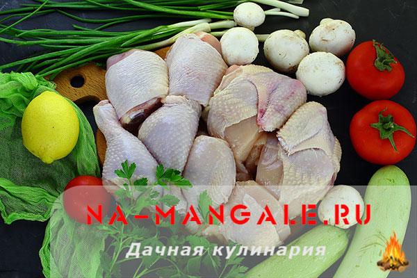 Как порезать курицу на шашлык