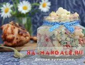 Миниатюра к статье Рецепты салатов из макарон с ветчиной и овощами