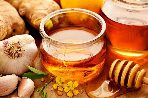 Эликсир мед чеснок и яблочный уксус