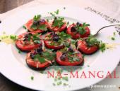 Миниатюра к статье Закуска из баклажанов и помидоров  с сыром, чесноком, базиликом