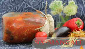 Миниатюра к статье Готовим заготовки на зиму из баклажанов со сладкими болгарскими перцами и помидорами