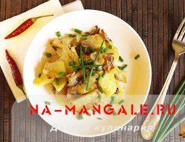 Как приготовить грибы и картошку в сметане
