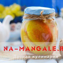Консервированные в сахарном сиропе груши кусочками