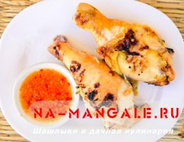 Куриные голени на гриле в томатном маринаде