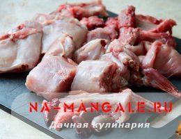 Схема разделки кролика на порционные куски