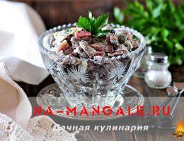 Рецепты вкусных салатов на основе куриных сердечек