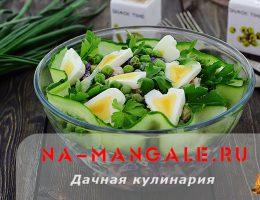 Лучшие рецепты с фото салатов на оснвое свежих огурцов и куриного филе