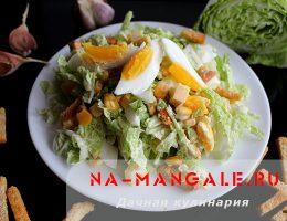 Как из пекинской капусты и сухариков сделать вкусный салат