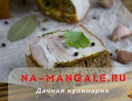 Рецепт приготовления сала в луковой шелухе
